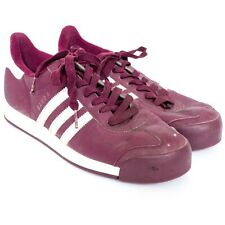 Adidas Samoa Sneakers 10 US Mens Maroon 702001 3 Stripe Classic