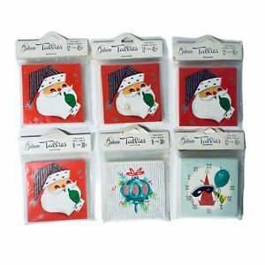 Lot of 64 Vintage Bridge Tally Score Christmas Holiday Ornaments 1950s Gibson