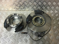 Ford Transit TDCi MK7 SWB FWD Rear Brake Discs Pads with ABS RINGS and SENSORS