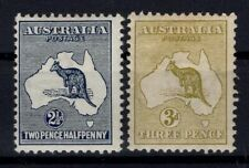 P134113/ AUSTRALIA – KANGAROOS / SG # 4 / 5 MINT MH CV 169 $