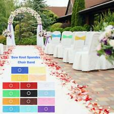 Spandex Wedding Chair Cover Decor Sashes Bow Knot Chairs Bands with Buckle