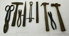 Antique Toolbox With Over 25 Antique Tools Parts Hammers Wrenches Picks Chisels