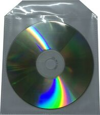 100 x CD/DVD Sleeve mit Lasche Folie Hüllen Case Box Nylon Hülle Sleeves Blu-Ray