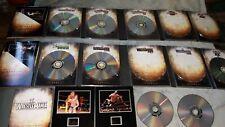 WRESTLEMANIA COMPLETE ANTHOLOGY incomplete - 8 dvds & 4 film cells