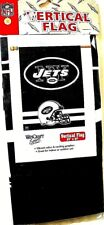 NEW YORK JETS 27 INCHES BY 37 INCHES VERTICAL NFL FLAG BANNER BY WINCRAFT SPORTS
