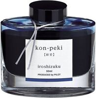 Pilot Iroshizuku 50ml Fountain pen ink: Kon-Peki