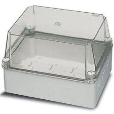 ABB THERMOPLASTIC ENCLOSURE Surface Mount, Screwed CLEAR- 220x170x 80mm Or 150mm