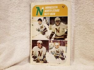 VINTAGE Minnesota North Stars 1977-78 Press Media Guide, Lou Nanne, NMMT!!