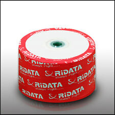 Ritek Ridata White Inkjet Hub Printable 52X CD-R Blank Media 50 Cake Box