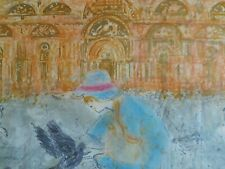 Edna Hibel Artist  Proof and Pastels Italy Original Stone Lithograph Signed