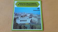 altes Reise Prospekt Herzlich Willkommen in Sowjetaserbaidshan, Intourist, 1980