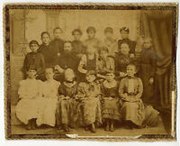 1890's Russian Cabinet photo 16 GIRLS AND 2 ADULTS IN GIRLS' GYMNASIUM
