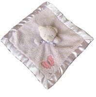 Tiddliwinks Purple Bear Pink Butterfly Sherpa Baby Blanket Satin Security Lovey