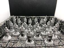 New ListingLot Of 22 D&D Pathfinder Rpg Miniatures 28 mm Village Guards, Royal Guards, Npcs