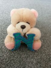 More details for vintage forever friends bear letter initial n andrew brownsword soft toy plush