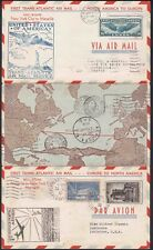 Fam 18 First Flight Cover NY to Marseille 1939 Pan Am Clipper Boomerang w/map