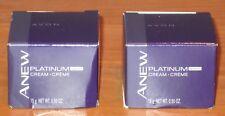 Avon 2 Anew Platinum Anti-Aging Night Cream Age 60+ Trial Size $24 NIB