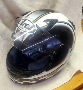 "Mint Pre-owned Arai Quantum II Motorcycle Helmet ""Racing Design"" Size XXL"