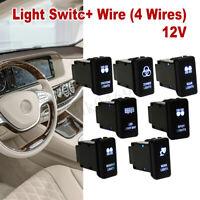 12V Blue LED Light Bar Push Switch For Toyota Landcruiser Hilux Prado FJ   /