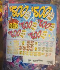 Jar Tickets! 12,000 3's PIGGY BANK Tip pull tabs Bingo Jar Tickets (25-$100's)