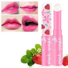 2pc Strawberry Flavor Lip Balm Magic Temperature Changing Color Moisturizer Balm