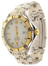 Men Omega Seamaster Date 42mm  18K YG/Stainless Steel Date White Dial Watch