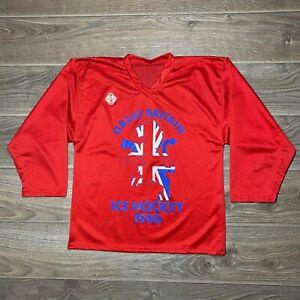 Great Britain 1990 Tackla Vintage Ice Hockey Jersey Trikot Shirt Rare size M