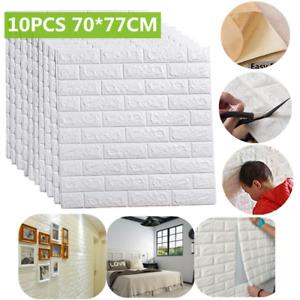 10x 3D Tile Brick Wall Sticker Self-adhesive Waterproof Foam Panel Wallpaper UK