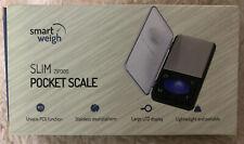 New Smart Weigh SLIM ZIP300 pocket scale pcs function SS platform LCD display