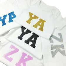 Customised Baby Vest Glitter Wash Friendly Personalised Newborn Toddler Baby UK