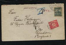 Czechoslovakia  cover to England  postage  due  1934       SS0425