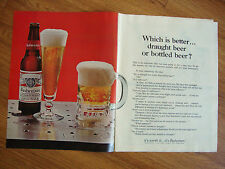 1966 Budweiser Beer Ad Which is better Draught Beer or Bottled Beer?
