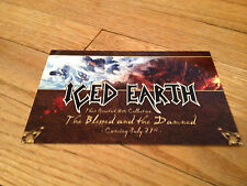 ICED EARTH Blessed And The Damned two-Sided Glossy Promo Card Heavy Metal  Power