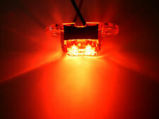 TecNiq Red Clear 4 LED SS Dragon Light Motorcycle Camper Trailer Truck USA