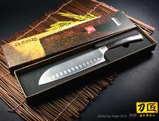 Japanese Santoku Knife Granton Edge Design 6.7inch Cleaver Kitchenware Cutlery