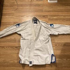 Inverted Gear White Light Pearl Weave Gi Size A2 Kimono BJJ jiu Jitsu Panda