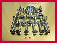 Bmw f 650 GS dakar año 99-03 tornillos acero inoxidable revestimiento revestimiento tornillos