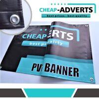 6ft x 4ft PVC Banner Printed Outdoor Vinyl Sign CHEAPEST IN UK - 510g !!