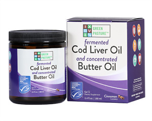 Green Pasture Blue Ice Cinnamon Royal Blend Fermented Cod Liver Oil Gel with ...
