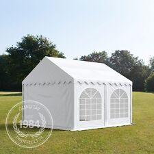 3x4 m PVC Partyzelt Gartenzelt Pavillon Festzelt Bierzelt weiß feuersicher