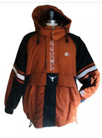 Vintage STARTER Texas Longhorns Sz Lrg Pullover NCAA Insulated Hooded Jacket
