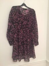 LADIES FLORAL BLACK AND PINK DRESS BY VERA MODA DESIGNER SIZE S