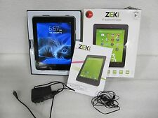 "ZEKI 8"" Android 4.3 Quad-Core Tablet (TBQG884B) 8GB *Defect (33335)"