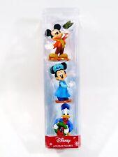 Disney Holiday  Mickey Minnie Donald Set of 3 Christmas Figures