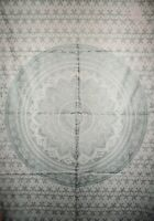 Silver Mandala Ombre Psychedelic Bohemian Wall Hanging Posters/Tapestry Wall Art