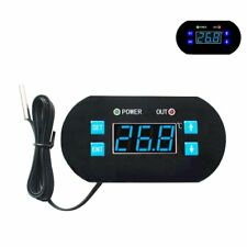 12V DC Digital LCD Temperature Controller Heating Cooling Thermostat with Probe