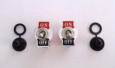 2 BBT Marine Grade On/Off 20 amp Heavy Duty Toggle Switches w/ Waterproof Boots