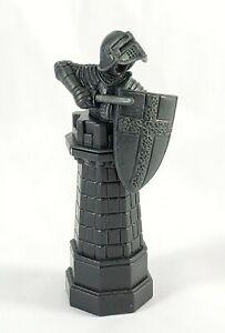 "Mattel Harry Potter Wizard 2002 Chess Game Rook Dark Gray Replacement Part 3.5"""