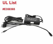 UL List DC 12V 5A Power Supply Adapter + 8 Split Power Cable For CCTV Camera DVR