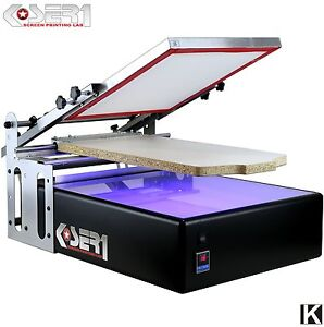 Machine Sérigraphie avec Isoleuse UV KIT | Presse serigraphier textile presse